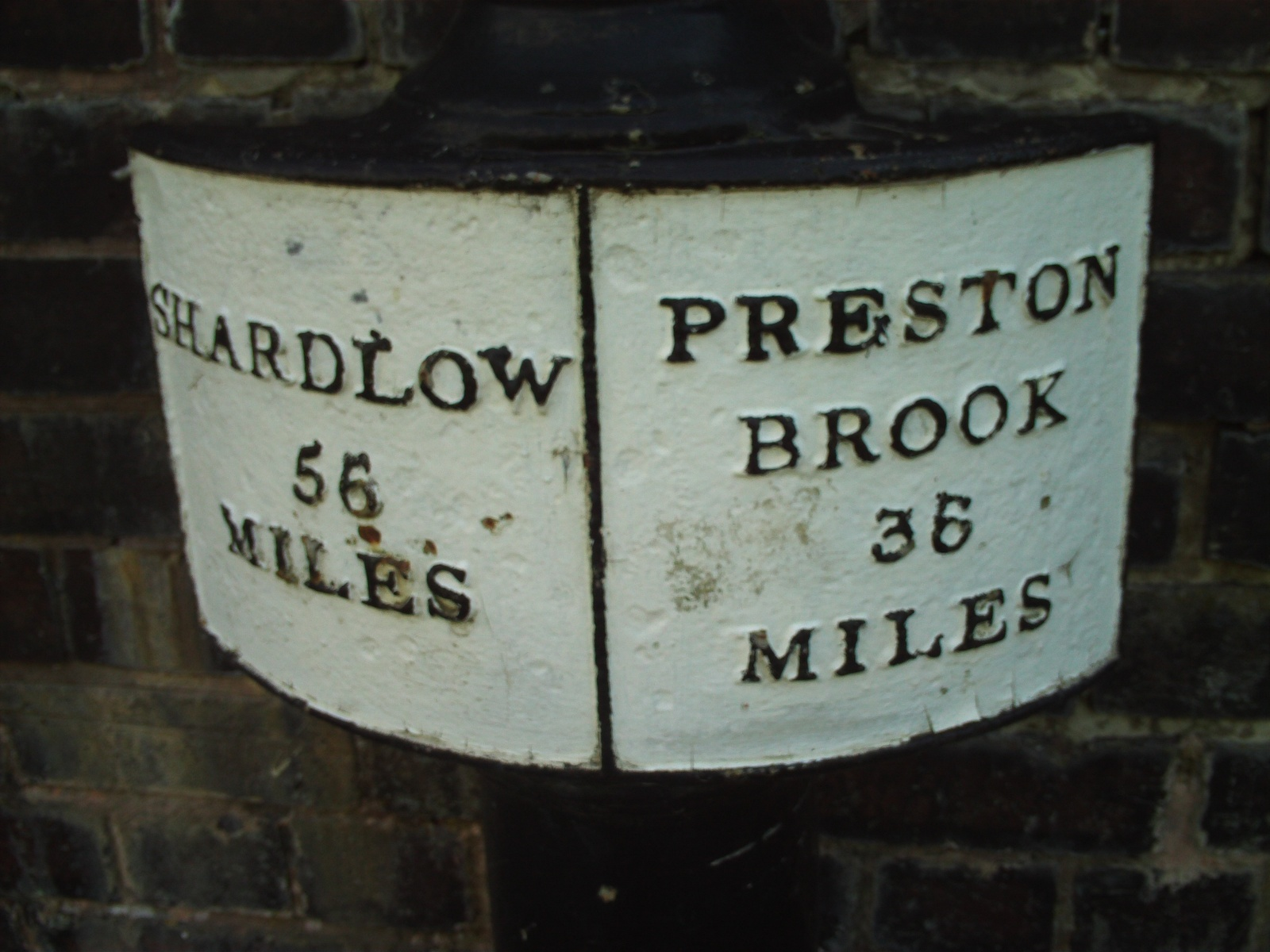 1770s SIGN AT CANAL JUNCTION