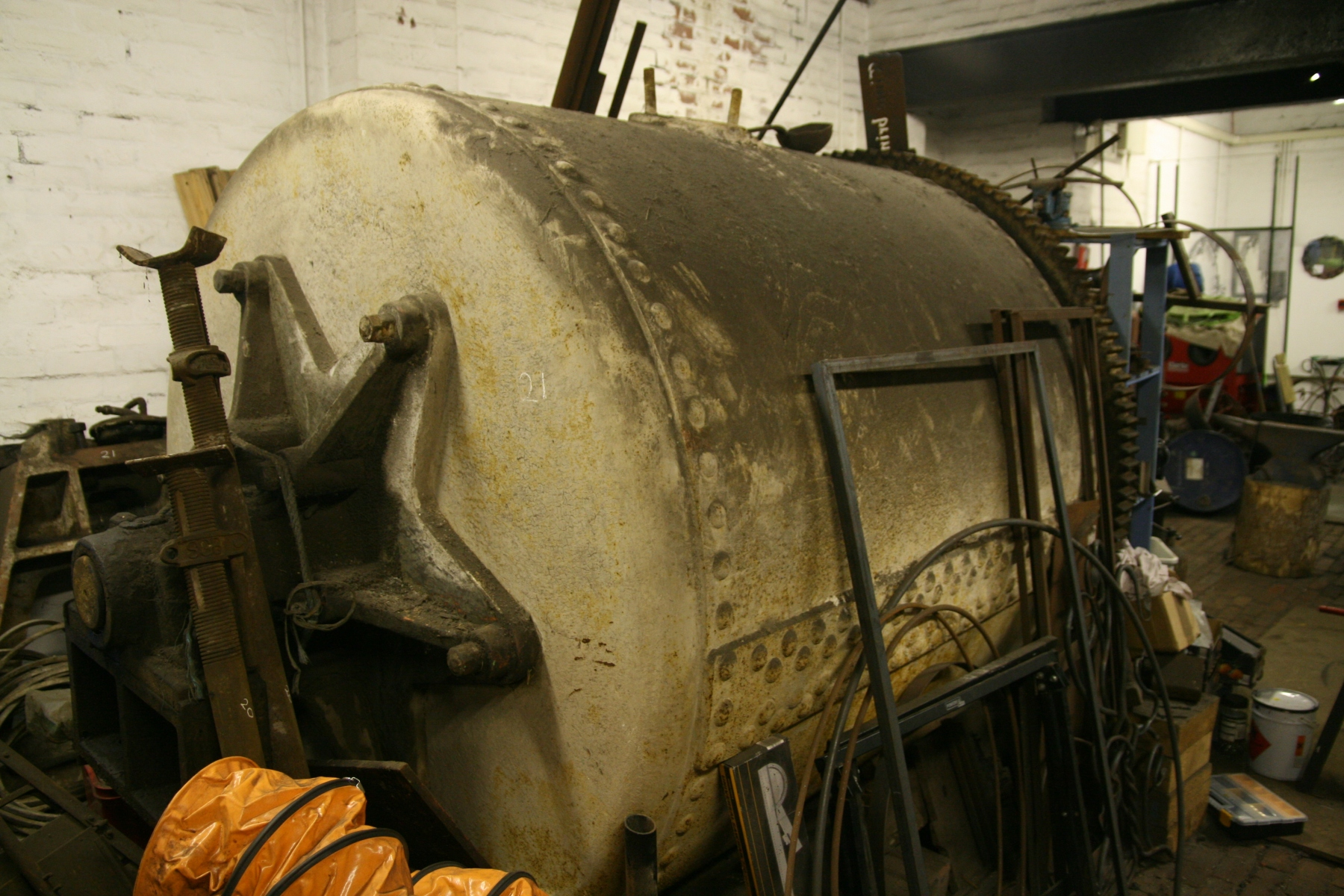 GOODWIN 1904 BALL MILL BEFORE RESTORATION