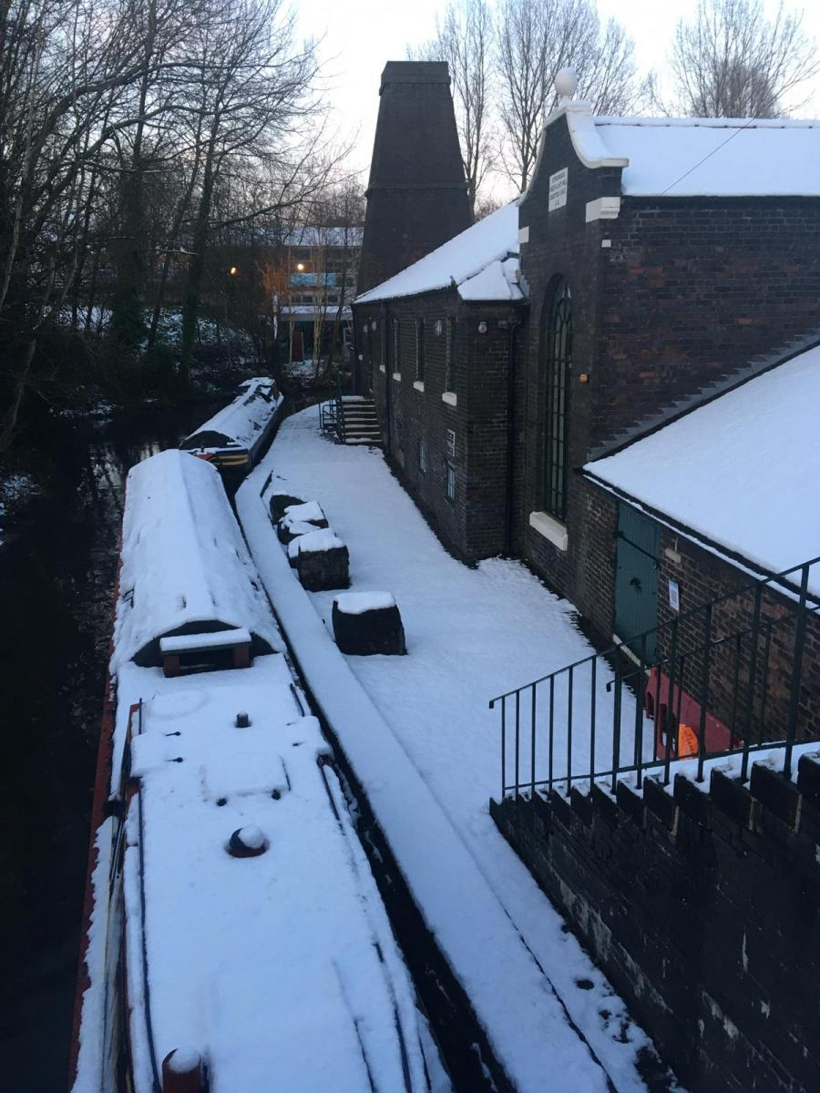 MILL AND WHARF IN THE SNOW - Reader Art