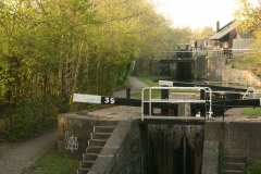 TRENT AND MERSEY CANAL SUMMIT LOCK