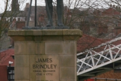 JAMES BRINDLEY STATUE BY CALDON CANAL