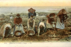 Dieppe - Ramasseurs de galets (pebble gatherers) early 1900s